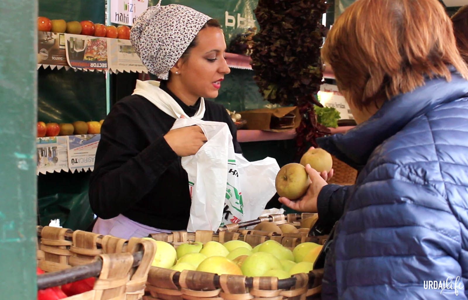Frutas de temporada Mazorcas en el Urriko Azken Astelehena