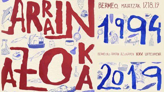 Feria Arrain Azoka en Bermeo, cartel de 2019