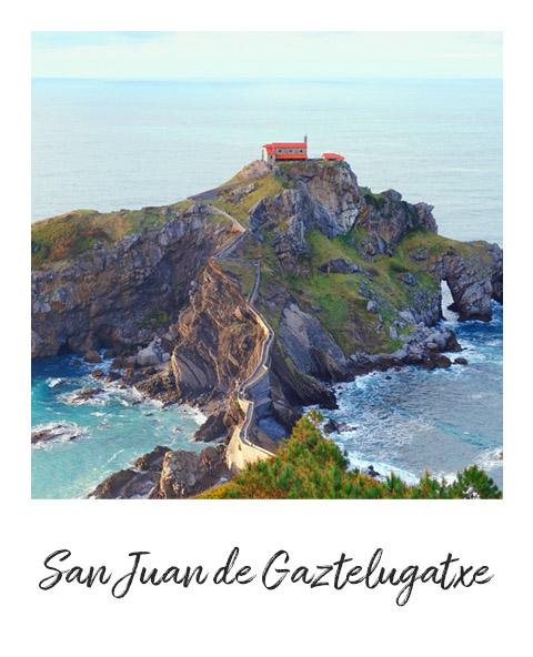 Polaroid de San Juan de Gaztelugatxe