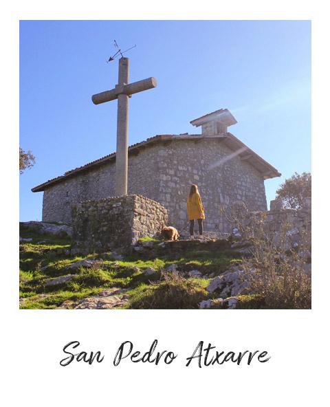 Polaroid de San Pedro Atxarre, en Urdaibai